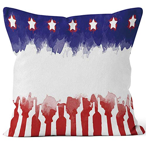 Nine City Pray for America Text Pray for las Vegas on America Flag Gun Control Campaign Throw Pillow Cushion Cover,HD Printing Decorative Square Accent Pillow Case,36