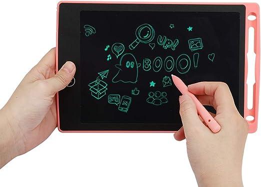 LCDタブレット、電子タブレットメッセージタブレット、1ボタンロック8.5インチライティングボード、子供用(Pink)