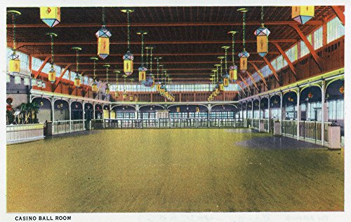 - Hampton Beach, New Hampshire - Interior View of the Casino Ball Room (16x24 SIGNED Print Master Giclee Print w/Certificate of Authenticity - Wall Decor Travel Poster)