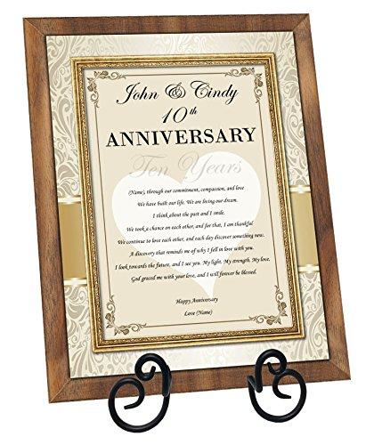 amazon com personalized anniversary gift love poem walnut plaque