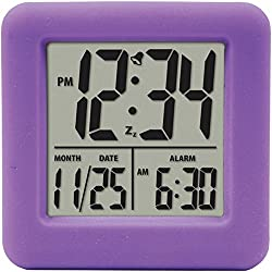 EQUITY BY LA CROSSE SOFT CUBE ALARM CLOCK PUR