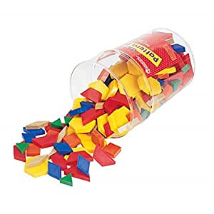 Plastic Pattern Blocks 1cm, Set of 250