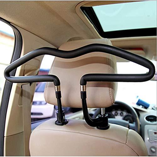 KTYX Car Hanger Interior Chair Back Clothes Stainless Steel Seat Accessories in-Vehicle Clothing Storage Modern Simplicity