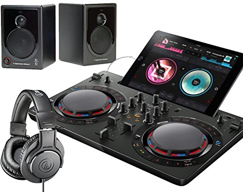 PIONEER DJスタートセット DDJ-WEGO4-K + XD3 + ATH-M20X(DJコントローラー + スピーカー + ヘッドホン) (ブラック)   B01LYHG6CQ