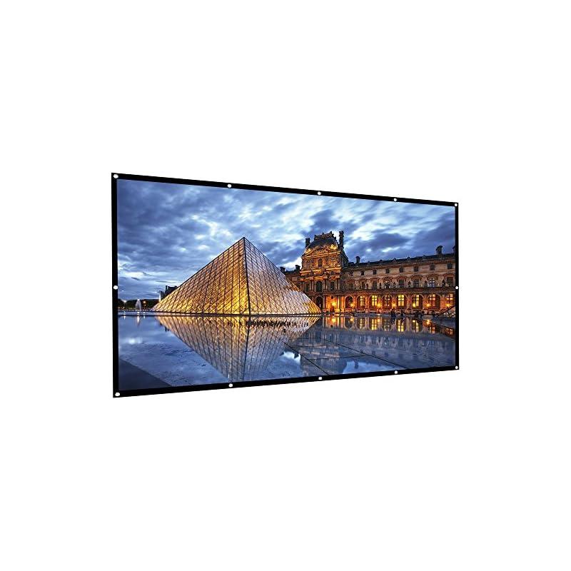 Outdoor Projector Screen, HUKOER 100 Inc