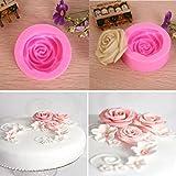 Denshine® 3D Mini Silicone Rose Flower Cake Mould Topper Cupcake DIY Fondant Tool Flower Sugar Paste Decoration