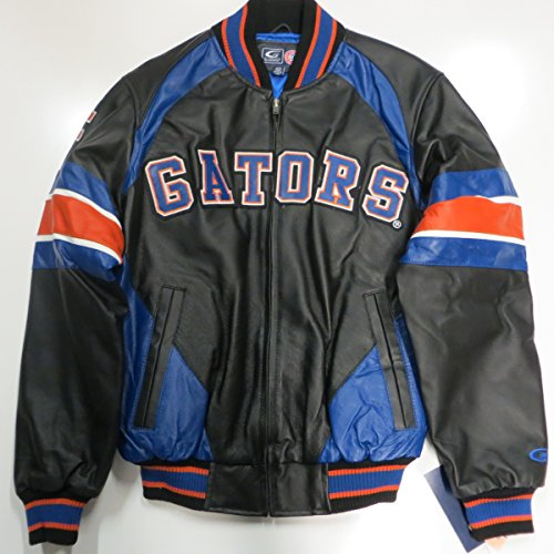 G-III Sports University of Florida Gators Mens 2X-Large Full Zip Embroidered Leather Colorblock Jacket AFGT 1 2XL