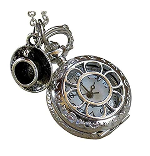 Alice in Wonderland Tea Party Steampunk Pocket Watch