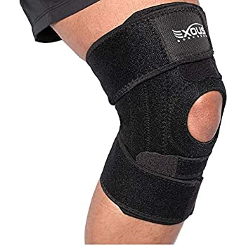 b6e8940946 EXOUS Knee Brace Support Protector - Relieves Patella Tendonitis - Jumpers  Knee Mensicus Tear - ACL