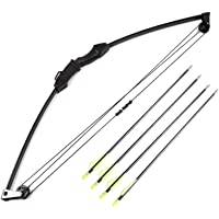 FlyArchery 35'' Kid Compound Bow and Arrow Archery Set With 4 Arrows For Youth Junior Kid Children Hunting Toy