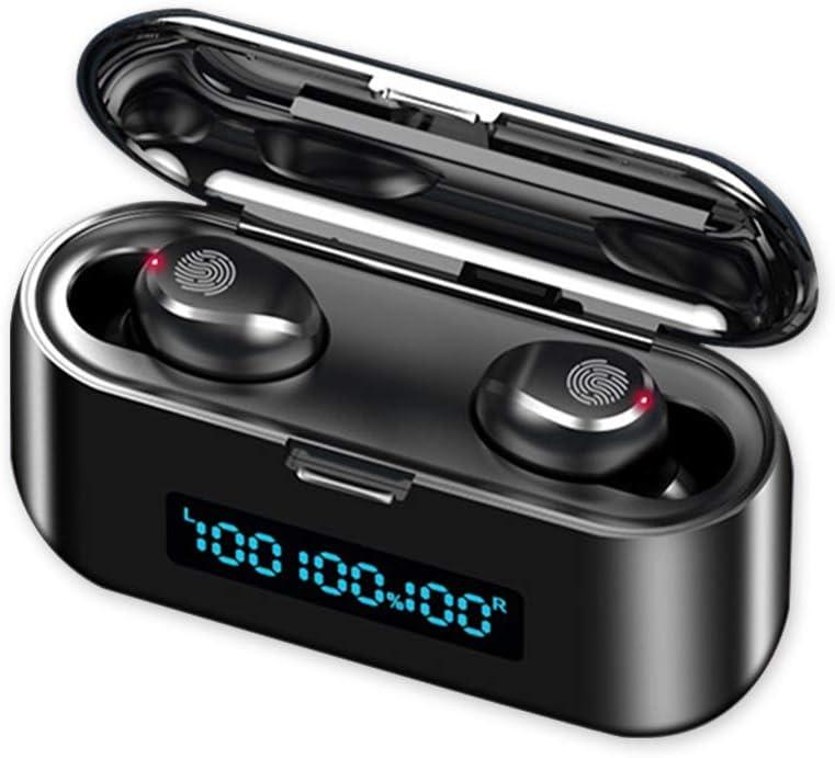Auriculares Inalambricos Bluetooth 5.0,Twins In-Ear Auriculares con Mic ReduccióN De Ruido,Pantalla LCD, Control Tactil,Ipx7 Impermeable,Digital Display Estuche De Carga