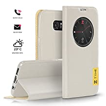 Zizo Tyme for Samsung Galaxy S7 Edge Case [Smart App Enabled] Slim Fit Leather Cover. The Very First and Original Smartcase