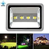 Lubao 200W Flood, 4 LED 20000lm Waterproof Super Bright 6000K White Security Spotlights,High Power Wall Lights for Outdoor Garden Landscape Playground AC 85-265v, 200W-1, 200w-sliver