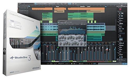 - PreSonus Studio One 3 Artist Recording and Production Software (USB Media Inside)