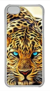 iPhone 5c case, Cute Painting Leopard iPhone 5c Cover, iPhone 5c Cases, Hard Clear iPhone 5c Covers