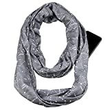 Infinity & Soft Scarf with Hidden Zipper Pocket Bundle Set Travel Accessories