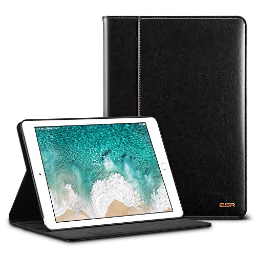 iPad Pro 10.5 Inch Case, ESR Premium Leather Business Multi-Functional Folio Stand Cover Hand Strap Pencil Holder Organizer Pocket Smart Auto Wake & Sleep for iPad Pro 10.5 inch, Black