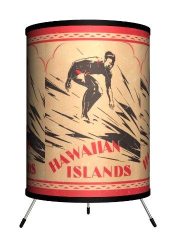 Lamp-In-A-Box TRI-SPO-SURHI Sports - Surfing Hawaiian Islands Tripod Lamp
