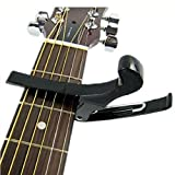 Changeshopping Black Quick Change Tune Clamp Key Trigger Capo For Folk Acoustic Guitar