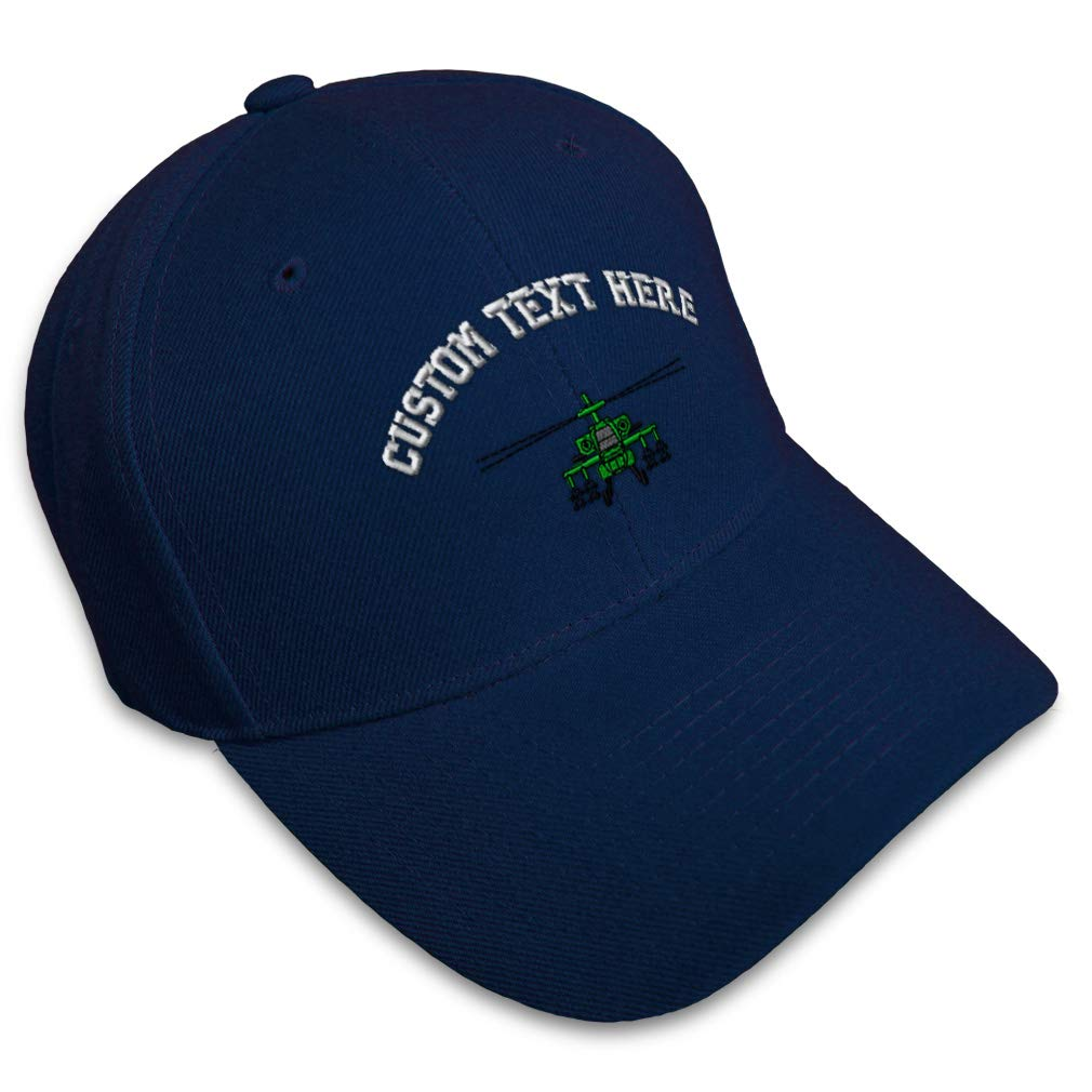 Custom Baseball Cap Helicopter Apache Embroidery Dad Hats for Men /& Women
