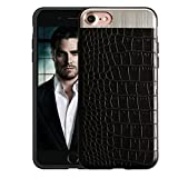 iPhone 8 Case, KolorFish Crocodile Leather Pattern Thin Back Business Series Case Cover for Apple iPhone 7/ iPhone 8 (Black)