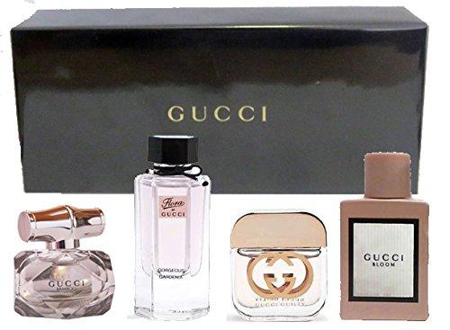 Gucci Variety Fragrance Set (4 Pc. Mini (0.16 Ounce Edp Splash)