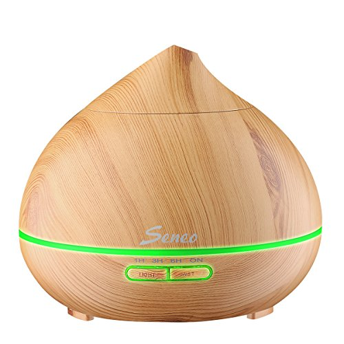 seneo-essential-oil-diffuser-300ml-wood-grain-aromatherapy-ultrasonic-cool-mist-humidifier-with-4-ti