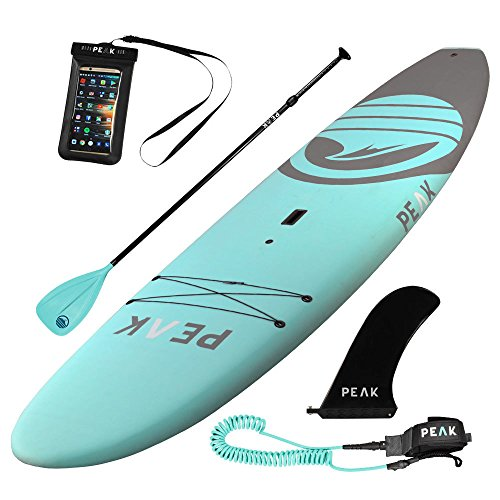Peak Expedition Inflatable Stand Up Paddle Board | 10'6' or 11' Long x 32' Wide x 6' Thick | Durable Lightweight Touring SUP | Stable Wide Stance (2018 - Aqua Escape, 10'5)