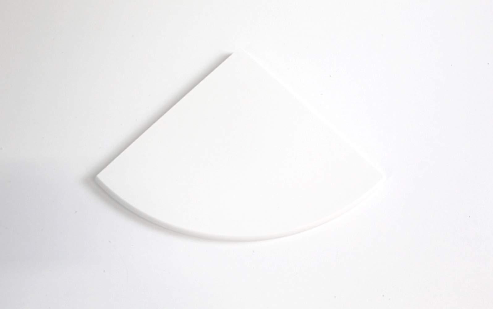 Quartz Polished Corner Shelf 9'' (Solid White)