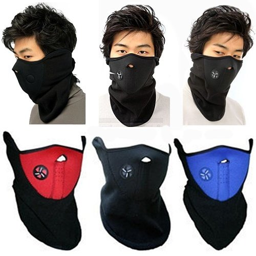 Huitao NEW Ski Snowboard Motorcycle Bicycle Winter Sport Face Mask Neck Warmer Warm Black