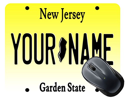BleuReign(TM) Personalized Custom Name New Jersey State License Plate Square Mouse - Replica Jersey Nets
