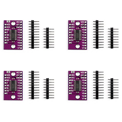 Areyourshop 4Pcs CJMCU-4051 Analog Multiplexer Demultiplexer Sensor Module For Raspberry Pi