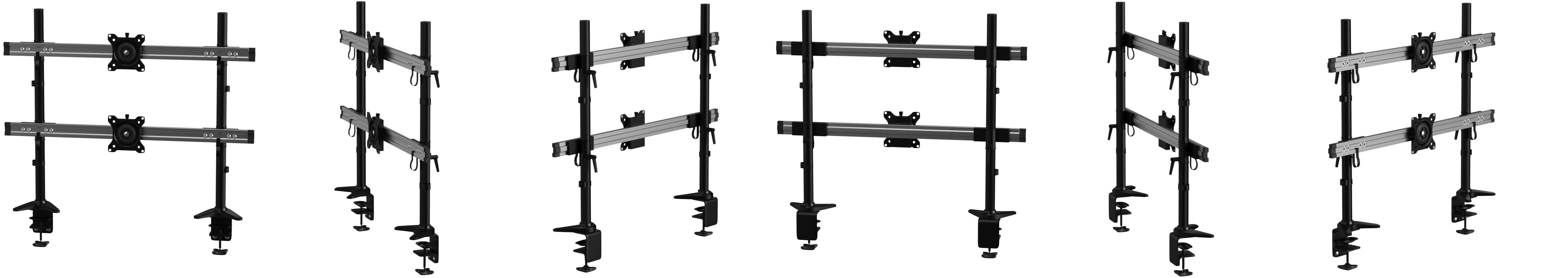 100 HFTEK HF28DB Supporto da tavolo per Monitor TV montaggio da tavolo Supporto da scrivania desk mount bracket per schermo fino a 34 pollici con VESA 75 HF28DB