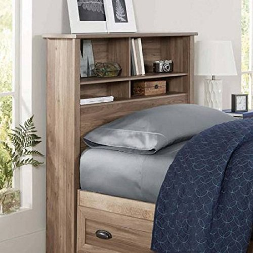 Better Homes and Gardens Lafayette Twin Bookcase Headboard, WASHED OAK FINISH (Homes Headboard Garden And Better)