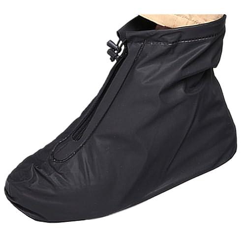 prezzo più basso con 49f64 3f73b Impermeabile scarpa copertura, impermeabile uomo riutilizzabile in  bicicletta Escursionismo pioggia scarpa copre leggero anti-slip Copriscarpe