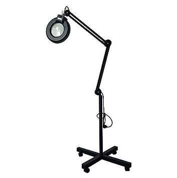 YOLE 5X salón Iluminado Lupa lámpara de pie-4 Rueda Base ...