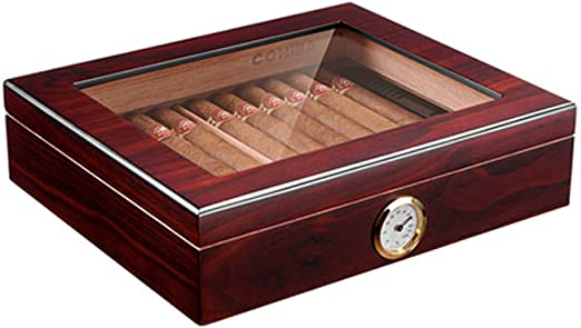 XGYUII Humidores de cigarros Caja de cigarros de Madera de Cedro ...