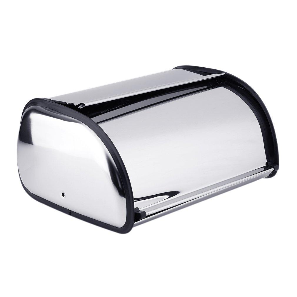 Belovedkai Bread Box, Stainless Steel Storage Box for Kitchen, bread storage Bread Holder
