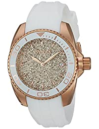 Invicta Women's 'Angel' Quartz Stainless Steel and Silicone Casual Watch, White (Model: 22704)