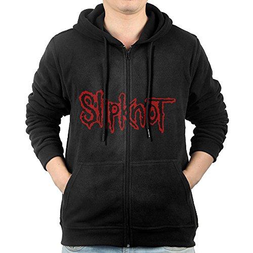 YUfunn Men's Music Slipknot Logo Hooded Sweatshirt Pocket Zipper ()