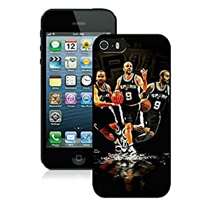 New Custom Design Cover Case For iPhone 5s Generation San Antonio Tony parker 4 Black Phone Case