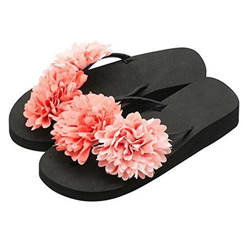 Sandali 3 Toe Casual Flat 5cm Slipper Heel In Elegante Donna Eva Ne sandalo Donna Dolce Infradito Piattaforma Mid Spiaggia on Per bambina Vacanza Con Estiva mid donna Clip Zeppa Slip Tacco rYrqC
