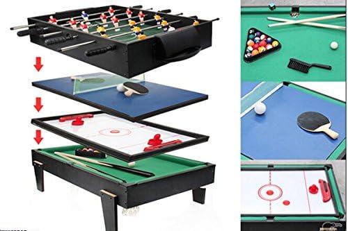 4 en 1, tabla de juego multi piscina / air hockey y tenis de mesa ...