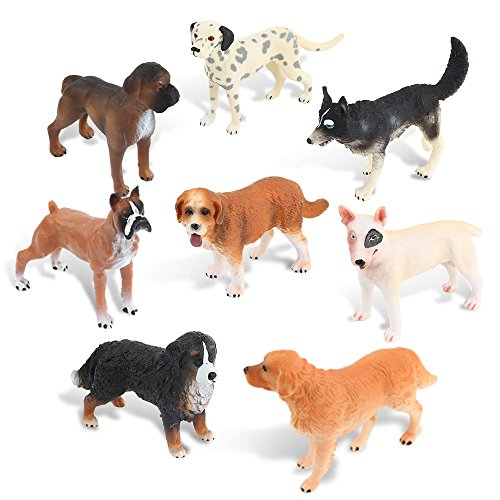 (Ericoo Animal Toys Set Figurines Educational Resource Hand Painting Realistic Dogs Figures for Toddler with CPC Certifcate and ASTM Test -Anim008)