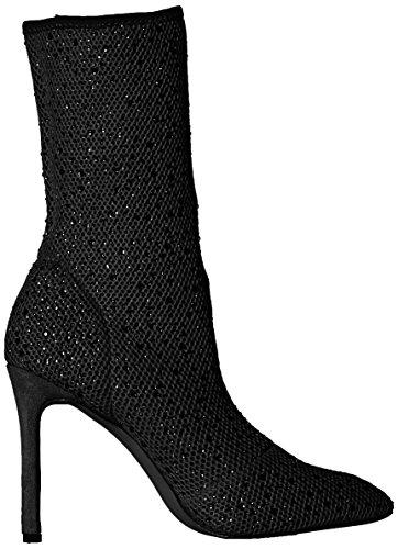 Sock Fashion Bootie Boot Women's Black Qupid 501qxBwn