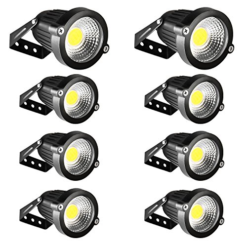 LED Flood Light INNERWILL Security Lights 5W 12V-24V Spotlights Outdoor Super Bright Waterproof Low Voltage Landscape Lighting for Front Door, Wall, Yard, Fence, Garage, Garden(Daylight, 8 Pack) by INNERWILL