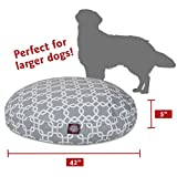 Gray Links Large Round Indoor Outdoor Pet Dog Bed