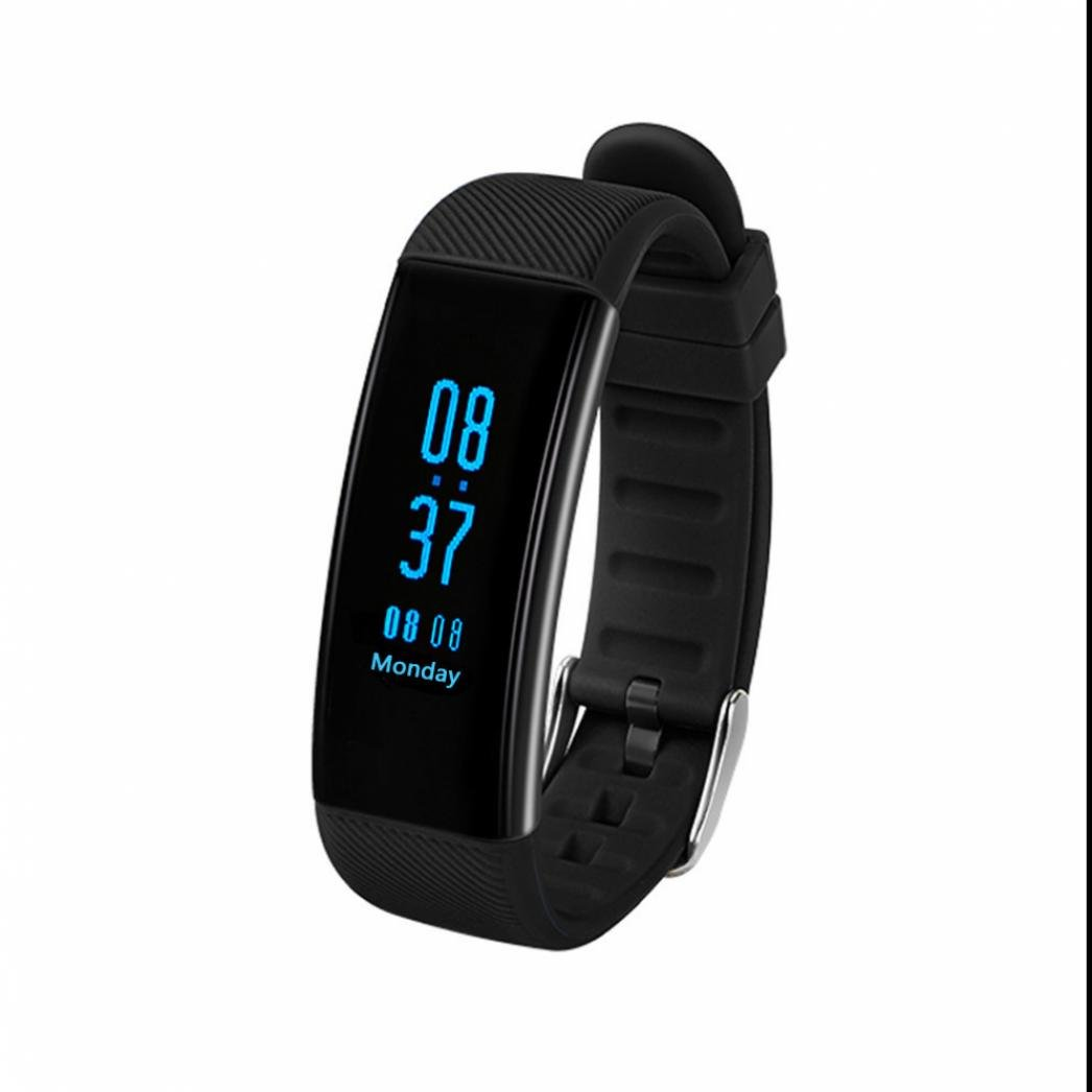 Monitor de Actividad, Pulsera de Actividad,Pulsera Inteligente para Deporte con Rastreador de Salud Monitor de Ritmo Cardíaco Rastreador de Frecuencia Cardíaca Alarmas Silenciosas para Android y iOS Telfono DiiRoo