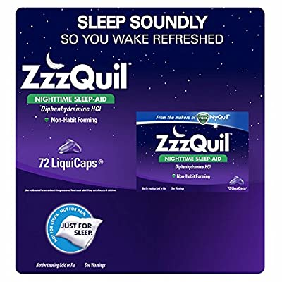 ZzzQuil Nighttime Sleep-Aid LiquiCaps, 72 ct. (pack of 2)