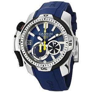 Graham Men's 2CDAV.U01A Prodive Analog Display Swiss Automatic Blue Watch